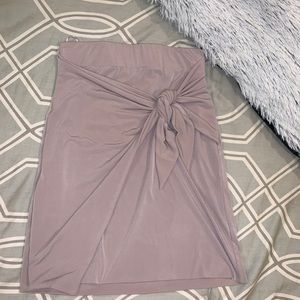 NWOT bodycon tie skirt from London